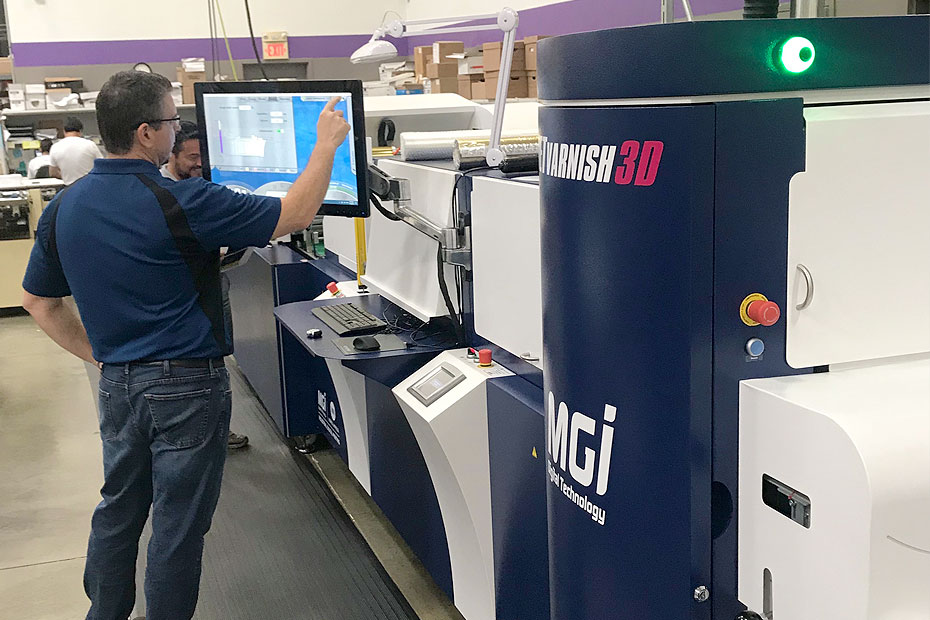 MGI JETVarnish Evolution at Team Concept Printing