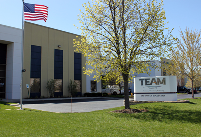 Team Concept Printing building in Carol Stream, Illinois.
