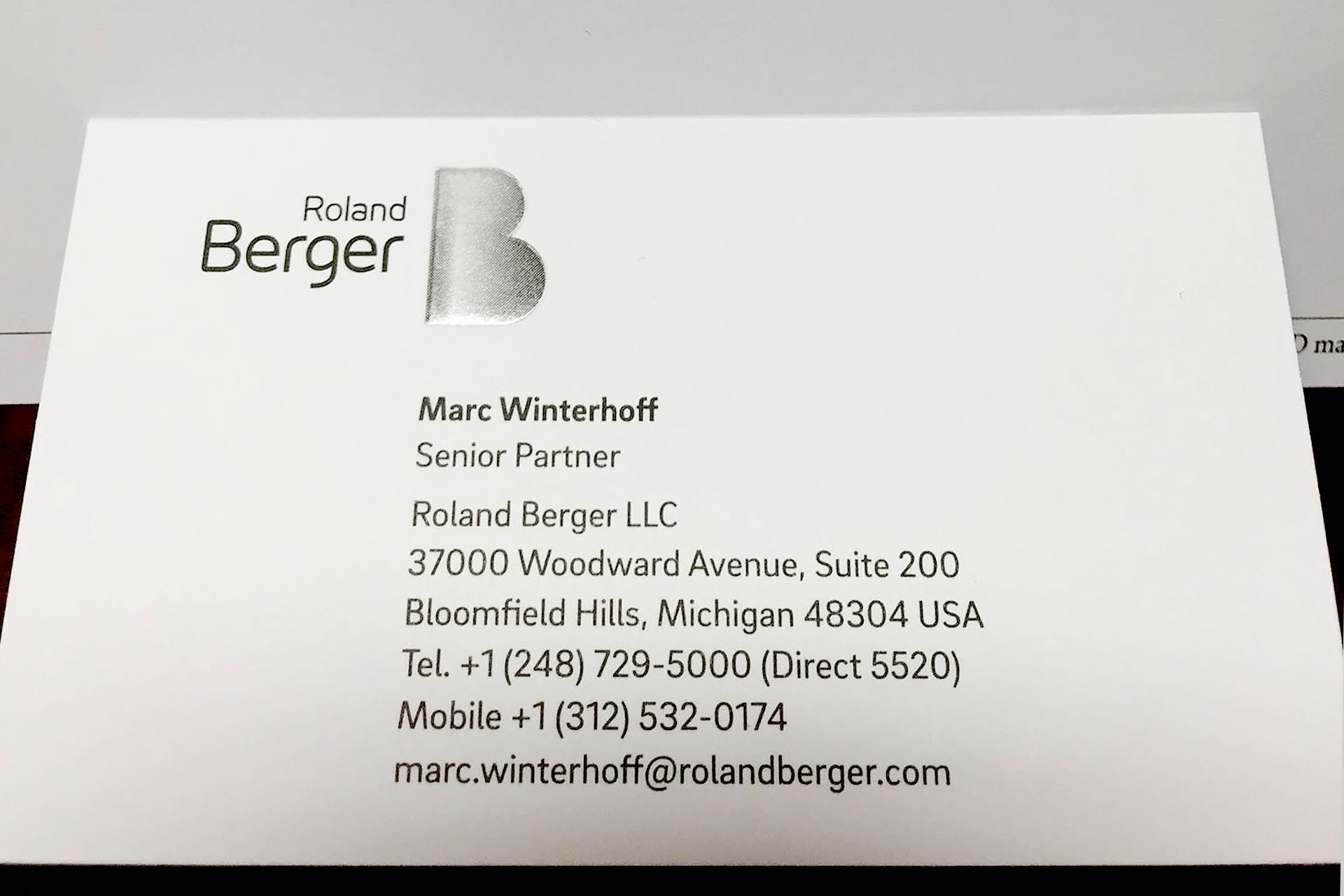 Silver Foil Embossed Business Cards