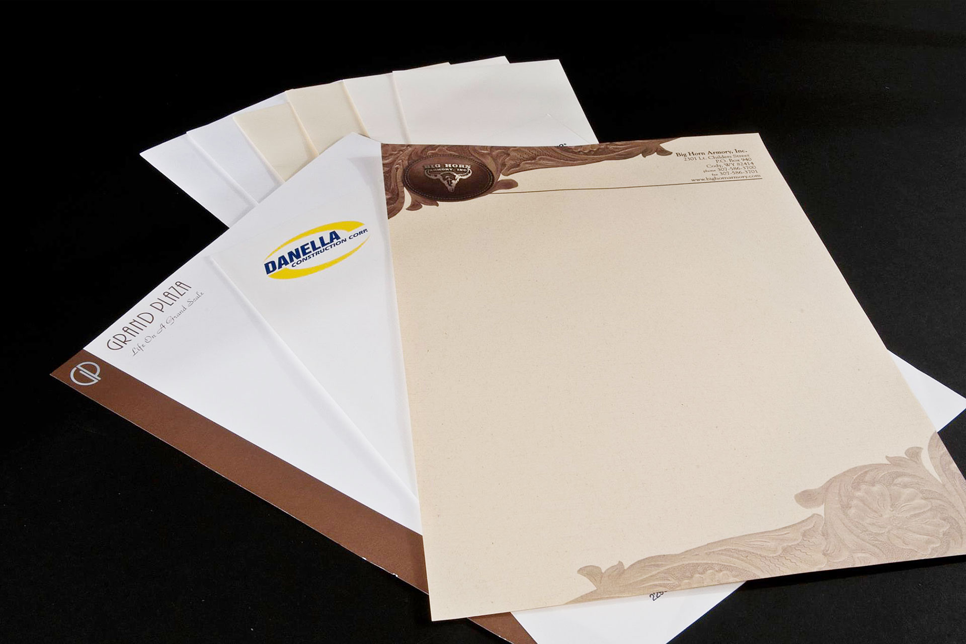 Various Examples Of Corporate Stationery / Letterhead