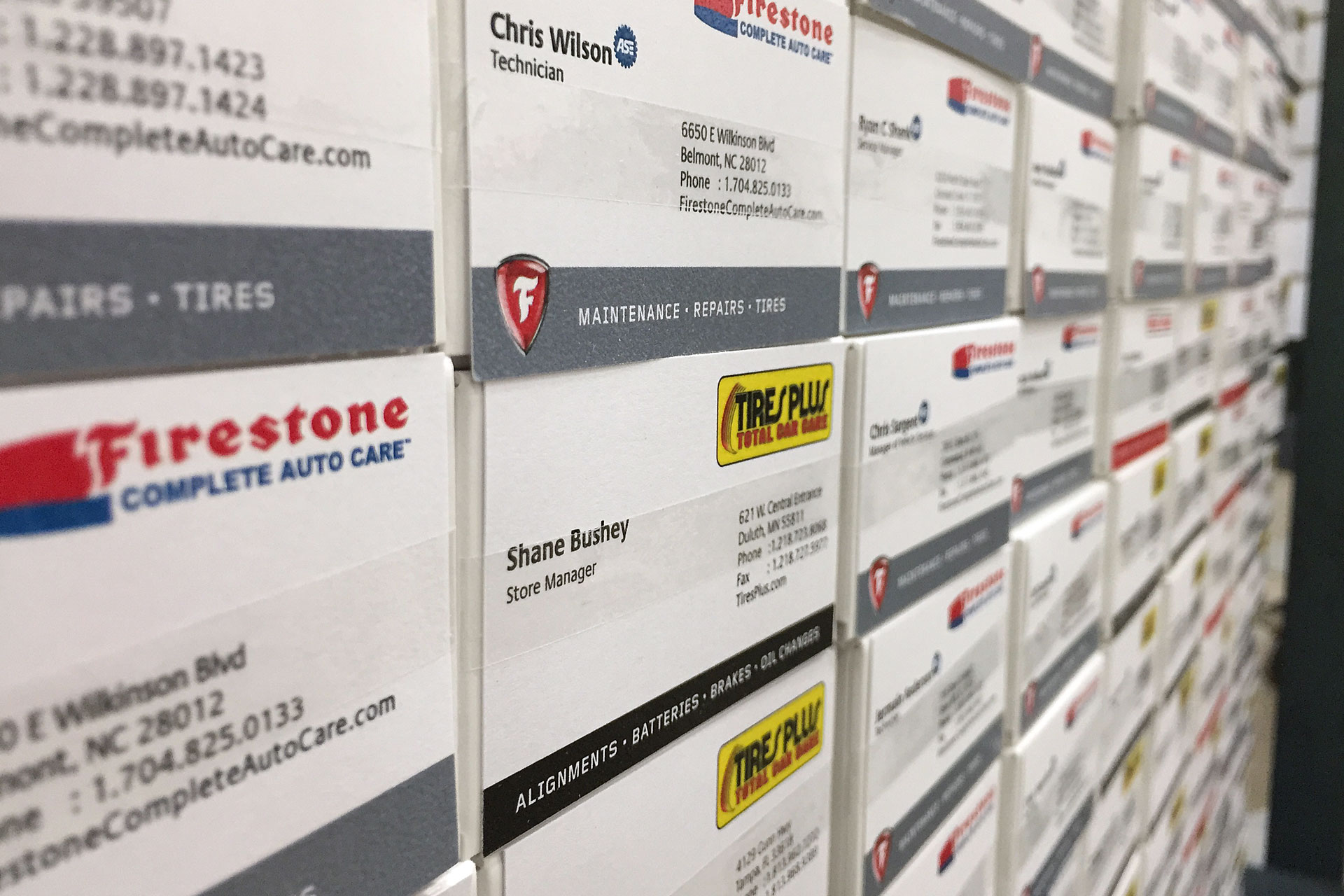 Boxed Pre-printed Business Cards in Warehouse