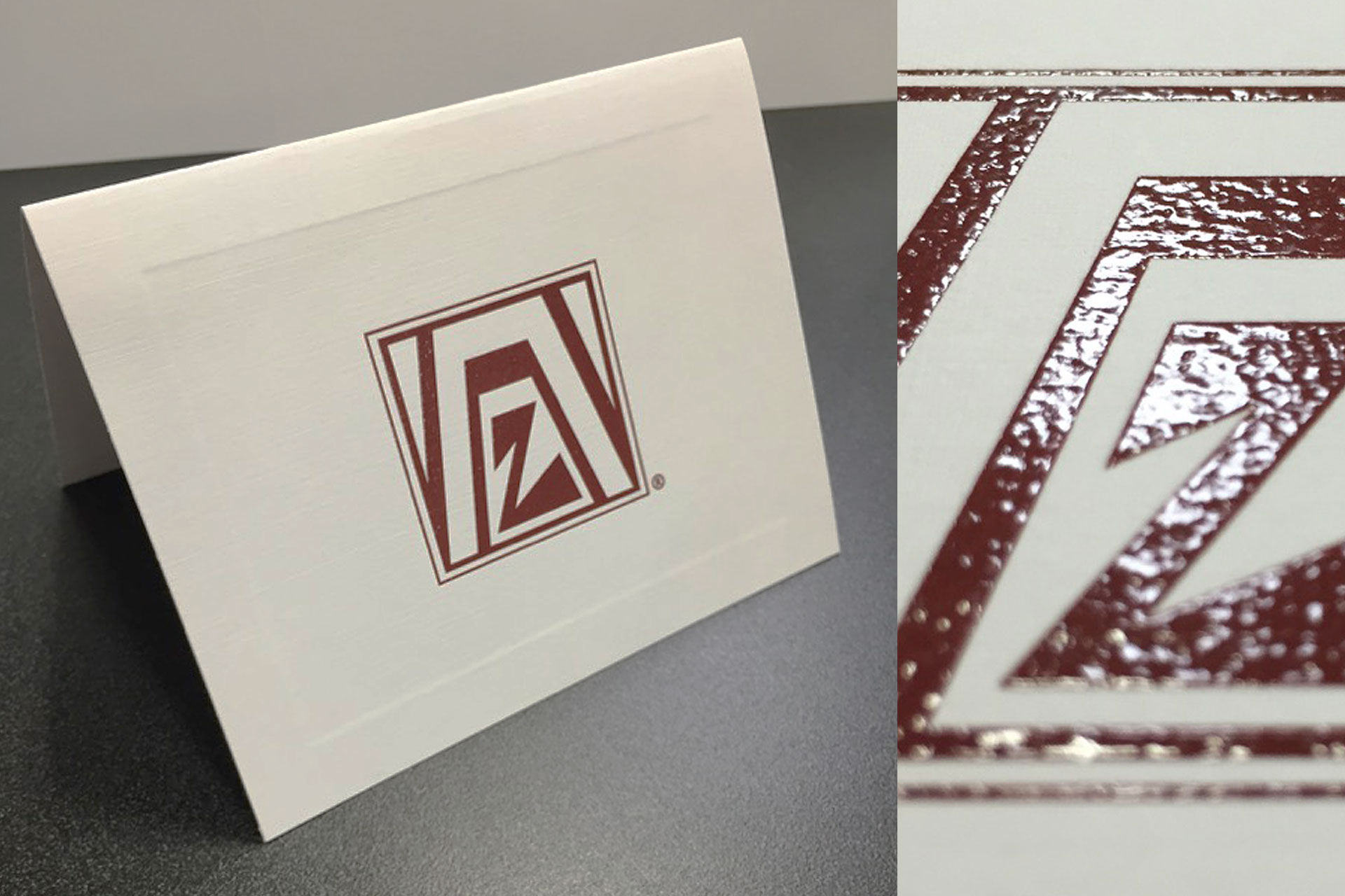 Thermographic Corporate Greeting Card with Embossing