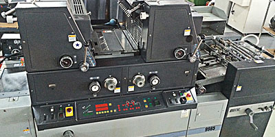 AB Dick 9985 2-Color Offset Press